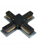 Black X-Connector - Single Circuit 2 Wire Track System - Liteline XC6104-BK