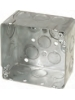 "VISTA -20172-   2 1/8"" Deep Square junction box w/knockouts"