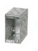 "VISTA -20231- 3 1/2"" Deep 1 Gang Masonry Box  w/concentric knockouts"