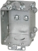 VISTA -20260- 2½ Deep Gangable Box w/mounting ears & Knockouts